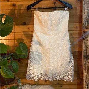 Gorgeous Badgley Mischka white floral dress